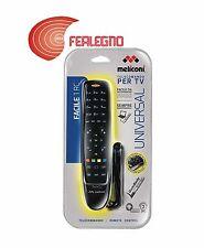 TELECOMANDO UNIVERSALE PER TUTTE LE TV NERO ANTIURTO MELICONI FACILE1 ART.806064