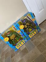 """Complete Donatello+ Raphael Giant 1989 13"""" TMNT Teenage Mutant Ninja Turtles"""