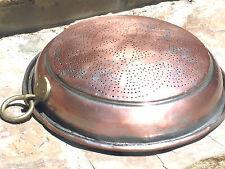 Old Tin Punch Copper colander