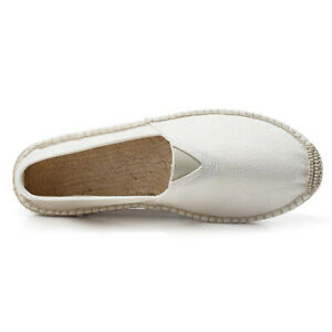 Espadrille Men's Shoes Straw Loafers Slip On Fisherman Canvas Driving Vogue New