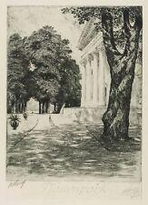 WÖRLITZ - WÖRLITZER PARK - SCHLOSS - PFAUENPARK - BRUNO HEROUX - Radierung 1919