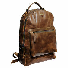 Fossil Laptop Back Pack bag for men/women Brown color craft with genuine leather