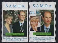 1999 SAMOA PRINCE EDWARD & SOPHIE ROYAL WEDDING SET OF 2 FINE MINT MNH/MUH
