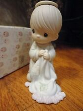 Precious Moments Figurine Wishing You A Comfy Christmas 1992 527750 Quilt MIB