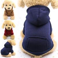 Pet Puppy Clothes Dog Hoodie Jumper Winter Warm Apparel Sweater Coat Jacket