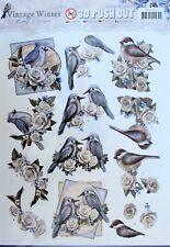 A4 DIE CUT 3D PAPER TOLE DECOUPAGE Push Out Sheet Birds Flowers