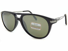SERENGETI Polarized Photochromic Udine 7756 FLEX Sunglasses Shiny Black / Green