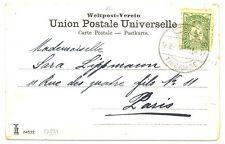 PALESTINE ISRAEL P.O OTTOMAN  1907 PPC =TIBERIADE= TO FRANCE  FINE