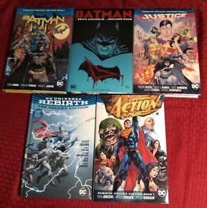 DC Comics REBIRTH Lot Batman Justice League Superman Action Set of 5 Deluxe HC