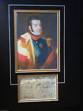 EARL OF MUNSTER - SON OF KING WILLIAM IV - ARMY OFFICER  - SIGNED  PHOTO DISPLAY