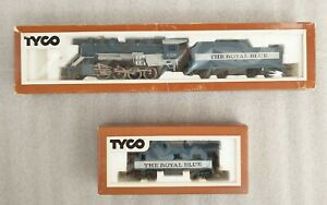 Tyco The Royal Blue HO Scale Locomotive, tender and caboose in original boxes
