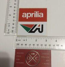 Vintage Aprilia Sticker 1980s 1990s Decal Rare Italian Motorcycles Bikes Classic