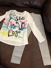Gymboree Girls Outfit Size 5/6 Skate On The Edge Sparkling Pants NWT