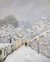 Alfred Sisley Snow At Louveciennes Fine Art Print on Canvas Giclee Repro Small
