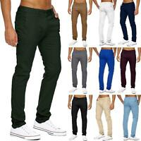 Mens Stretch Chinos Slim Fit Trousers Skinny Spandex Pants 11 Summer Colours New