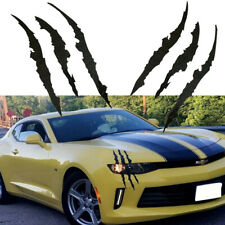 2X Black Scratch Claw Vinyl Sticker Kit for Car Front Headlight Decor Sticker