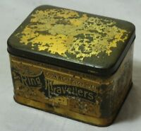 OLD VINTAGE UNIQUE RING TRAVELERS COOK & Cos HIGH SPEED TIN BOX COLLECTIBLE