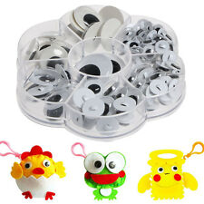 128pcs Sew-on Wiggly Wobbly Googly Eyes Scrapbooking Crafts 8-24mm