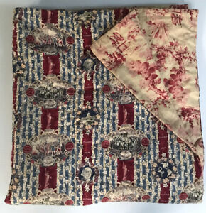Patriotic Quilted Blanket Throw Quilt Independence 1776 Constitution 68x42