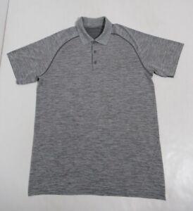 Lululemon Men's Metal Vent Tech Polo Slate / White Size L Stretch