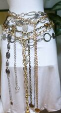 Seven Different Style,Size & Shape Vtg-Now Mix Metal Chain Belts
