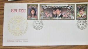 WEDDING YOUNG PRINCE ANDREW & SARAH FERGUSON SET 1986   BELIZE  FDC