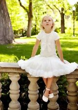NWT JOTTUM  IVORY WHITE PETALS TULLE SKIRT BEAUTIFUL 5 110 FITS 6 7 8