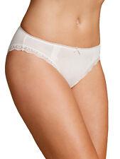 M & S Size 8 Cotton Rich High Leg Knickers Panties Briefs Cream