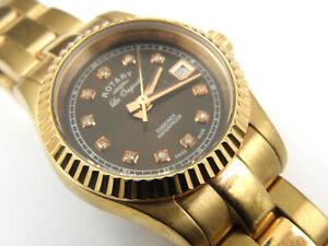 Rotary Les Originales Diamond Ladies Rose Gold Watch 14251