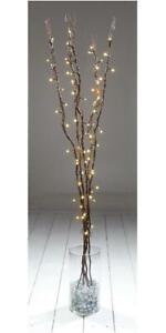 LED Xmas Twig Light Decorations, 1.2m Dark Brown