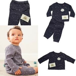Baby Boys Outfit Ex George Grey Speckle 2 Piece Cute Long Sleeve Top Trousers