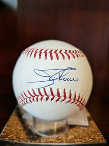 Jim Thome Signed Autographed Stat LE OML Baseball MLB Auth# BB604219 Indians HOF