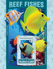 Solomon Islands 2016 MNH Reef Fishes Pomacanthus 1v S/S Fish Marine Stamps