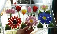 FUSED ART GLASS Tray William McGrath Summer Garden 56055