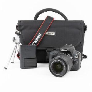 Canon 100D 18MP DSLR Camera + Canon 18-55mm IS STM Lens + Bag - 1,719 Shots