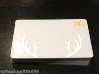2014 McDonald's CANADA Holiday Silver Antlers GIFT CARD (no cash value) 249