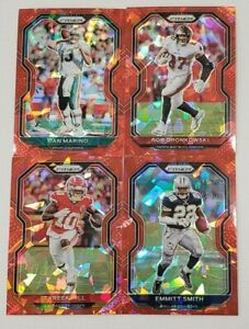 2020 Prizm Football RED ICE PRIZMS Parallels You Pick with Legends and Rookies