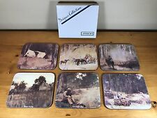 Jason Designer Collection Coaster Set Of 6 Australian Masters Vintage Barware