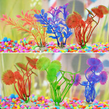 10pcs Artificial PC Mix Color Grass Plant Water Aquatic/Aquarium Fish Tank Decor