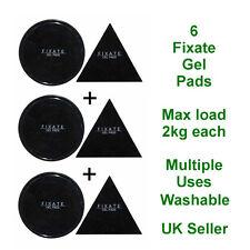 6 Fixate Gel Pads Reusable Washable Stickers Multiple Use House Car Caravan UK