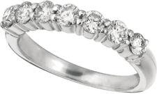 1.00 Carat Natural Diamond 7 Stone Ring G SI 14K White Gold