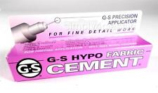 G-S Hypo FABRIC Cement Glue Fine Detail Work with Precision Applicator 1/3 Oz.