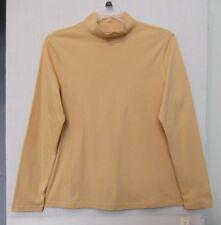 Studio Works Plus Size 1X Mustard yellow mock turtleneck, long sleeve NWT