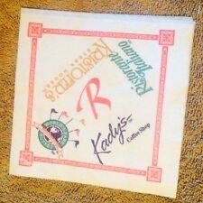 Riviera Casino Hotel Vintage Restaurant Advertising Napkin Las Vegas Nevada