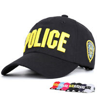 Men Women Cotton Police Embroidery Baseball Caps Adult Bone Gorras Snapback Hats