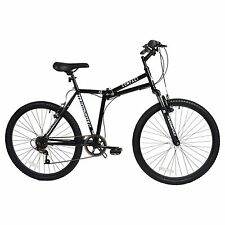 """Muddyfox Compact 26"""" Folding Bike with 6 Speed and Front Suspension in Black"""