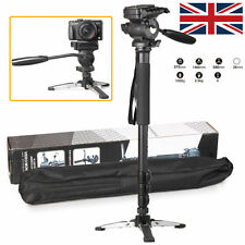 WF-3958M Pro Video Camera Monopod +Fluid Pan Head +Unipod Holder For DSLR Camera
