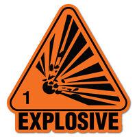 Explosive Danger Explosion Sticker Decal Safety Sign Car Vinyl #7397EN