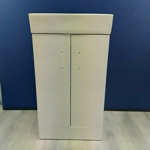 White Floor Standing Vanity Unit Basin 450mm Wide 1 Tap Hole Warehouse Clearance