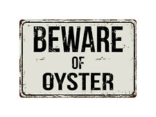 Oyster Beds w Arrow  Metal Sign 4 Cosplay Roll Play TV Movie Props Beach Decor